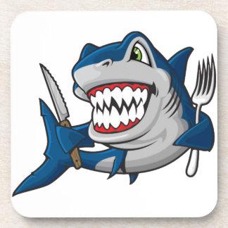 I Am A Hungry Shark Drink Coaster
