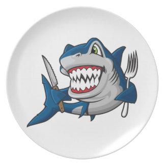 I Am A Hungry Shark Dinner Plate