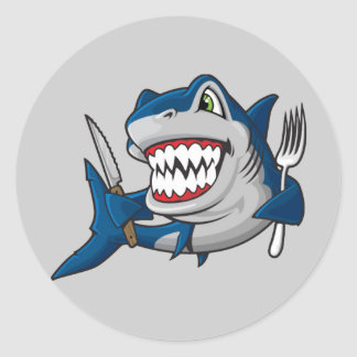 I Am A Hungry Shark Stickers