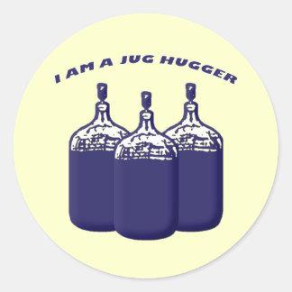 I Am A Jug Hugger Classic Round Sticker