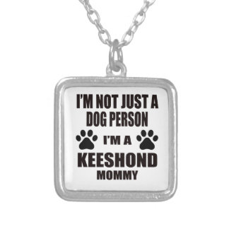 I am a Keeshond Mommy Square Pendant Necklace