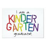I Am a Kindergarten Graduate 5x7 Paper Invitation Card
