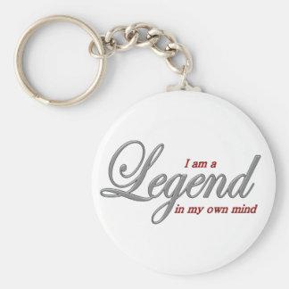 I am a Legend in my own mind Basic Round Button Keychain