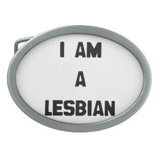 I AM A LESBIAN OVAL BELT BUCKLES