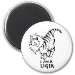 I Am A Liger 2 Inch Round Magnet
