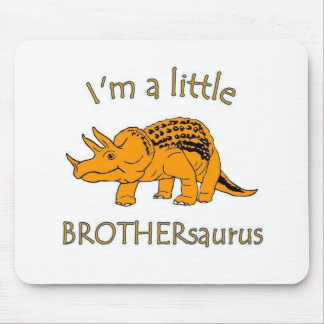 I am a little brothersaurus mouse pad