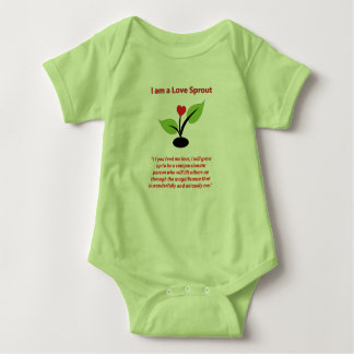 I am a Love Sprout Body Suit Baby Bodysuit