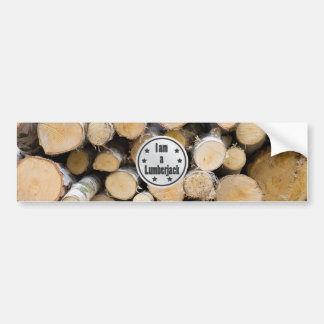 I am a Lumberjack vol 1 Bumper Sticker