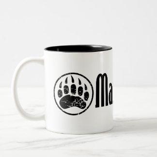 I am a MAMA GRIZZLY Two-Tone Coffee Mug
