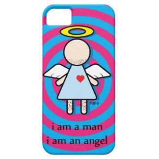 i am a man, i am an angel funny iPhone 5 Case
