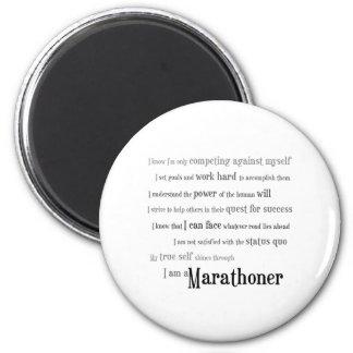 I am a Marathoner 2 Inch Round Magnet