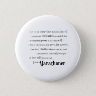 I am a Marathoner Button