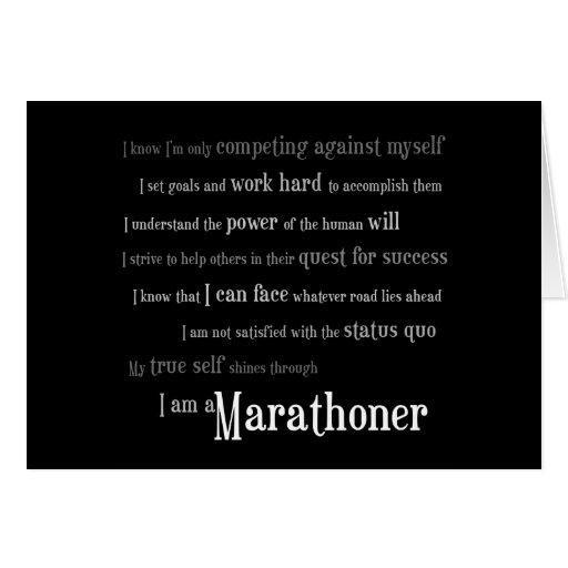 I am a Marathoner Card