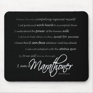 I am a Marathoner - Script Mouse Pad