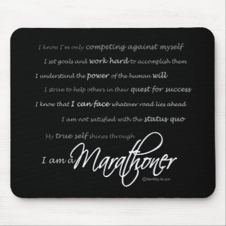I am a Marathoner - Script Mouse Pad