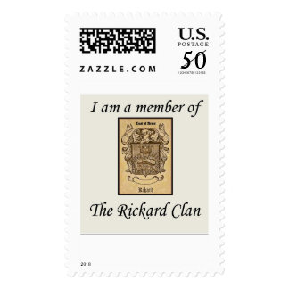 I am a Member of The Rickard Clan Postage Stamp