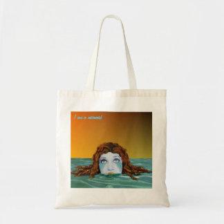 I am a mermaid tote bags