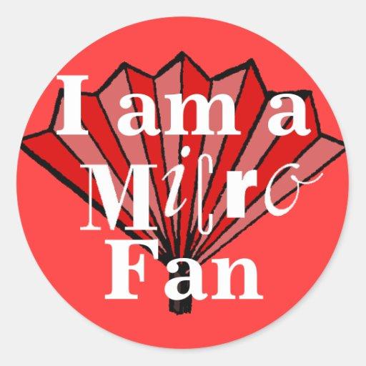 I am a Micro Fan Sticker