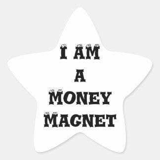 I Am a Money Magnet Star Sticker
