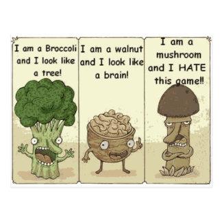 I am a mushroom post card