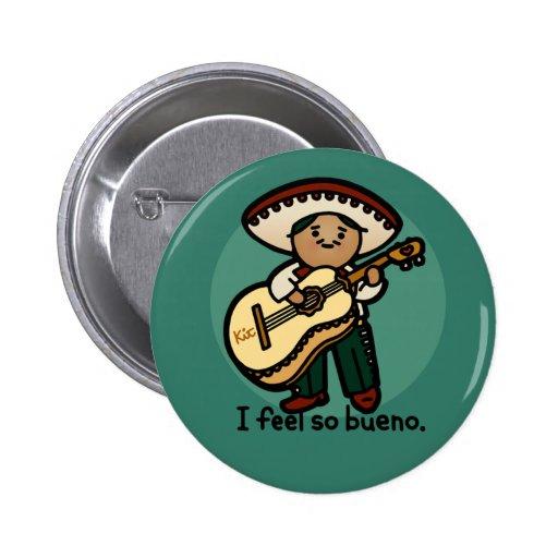 I am a music man. 2 inch round button