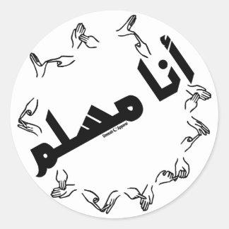 I am a Muslim Sign Language Classic Round Sticker