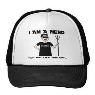 I am a Nerd - Just not like that guy Mesh Hats