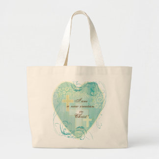I am a New Creation in Christ Jumbo Tote