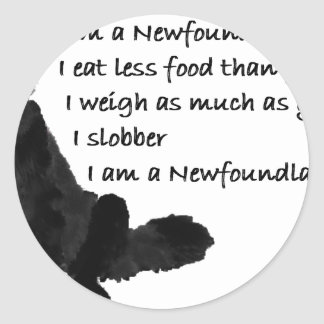 I am a Newf Classic Round Sticker