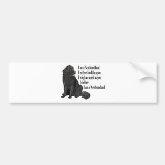 I am a Newfoundland Bumper Sticker