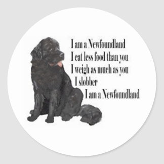 I am a Newfoundland Classic Round Sticker