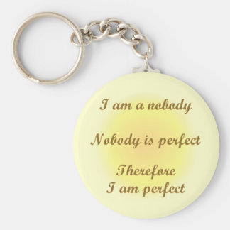 I am a nobody keychain