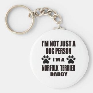 I am a Norfolk Terrier Daddy Basic Round Button Keychain