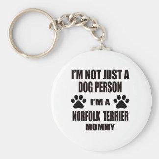 I am a Norfolk Terrier Mommy Basic Round Button Keychain