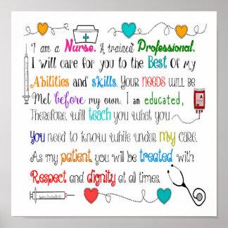I Am A Nurse Poster