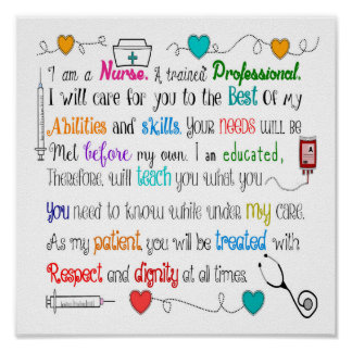 I Am A Nurse Poster II