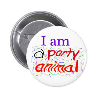 I-am-a-Party-Animal 2 Inch Round Button