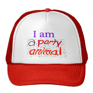 I-am-a-Party-Animal Mesh Hats