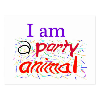 I-am-a-Party-Animal Postcards