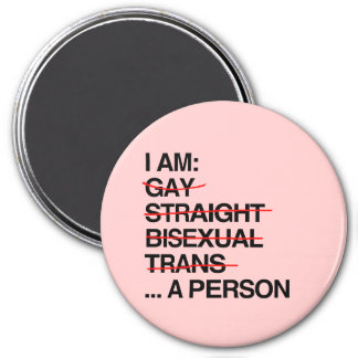 I AM A PERSON 3 INCH ROUND MAGNET