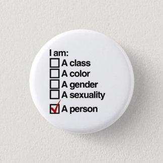 I am a person (class) pinback button