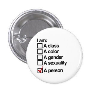 I am a person (class) pinback button