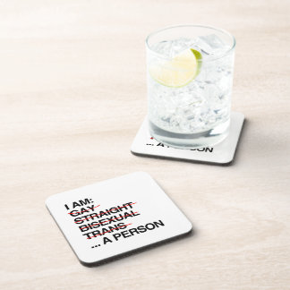 I AM A PERSON DRINK COASTER