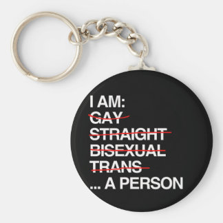 I AM A PERSON - KEYCHAINS