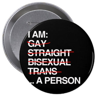 I AM A PERSON - PINBACK BUTTONS