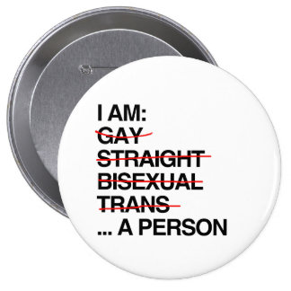I AM A PERSON PINBACK BUTTONS