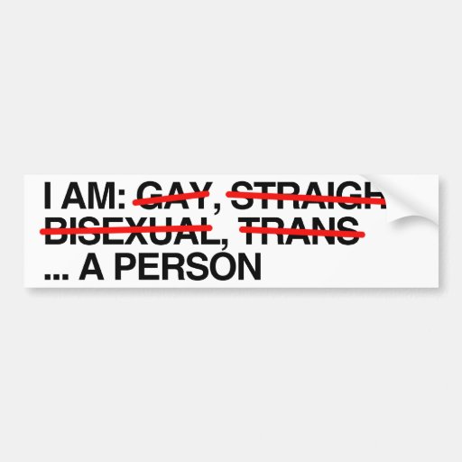 I AM A PERSON - .png Car Bumper Sticker