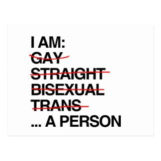 I AM A PERSON POSTCARD