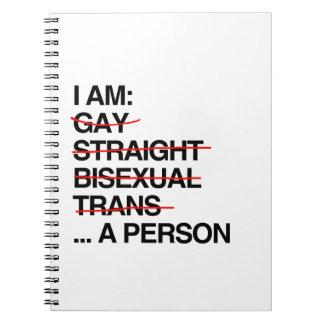 I AM A PERSON SPIRAL NOTE BOOK