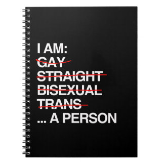 I AM A PERSON SPIRAL NOTEBOOKS